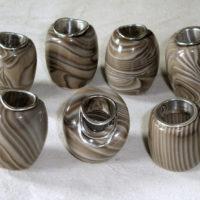 Krzemień pasiasty - baryłki, srebro
