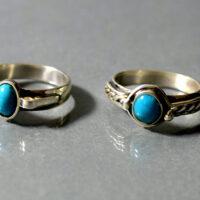 pierścionki z turkusem