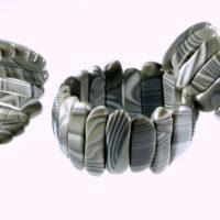 Oryginalne bransolety z krzemienia pasiastego