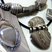 Krzemień pasiasty - biżuteria srebrna