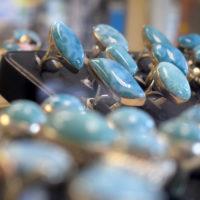 ścionki srebrne z larimarem