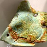 Rzeźba ryby z amazonitu z muzeum minerałów, Święta Katarzyna