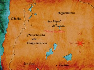Rodochrozyt. Rodochrozyt znaleziono w starej inkaskiej kopalni srebra w prowincji Catamarca