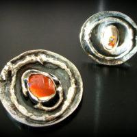 Opal z Meksyku w srebrze - kamień zodiakalny wagi