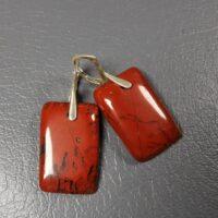 Kolczyki srebrne z czerwonym jaspisem
