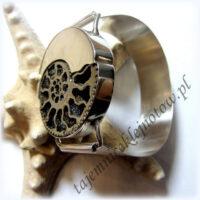 Bransoleta srebrna ze spirytyzowanym amonitem