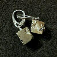 Kolczyki z kostek z pirytu (Navajun)