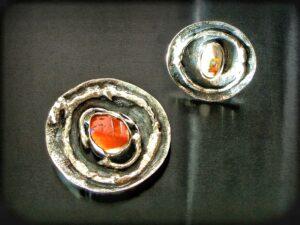 opal z meksyku, srebro