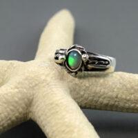 opal etiopski pierścionek srebrny